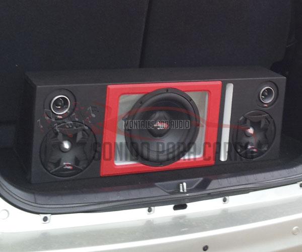 Caja acústica con acrílico
